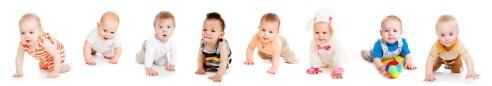 Babies crawling