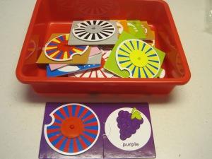 Color blending puzzle set